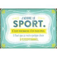 """Carte Citation Humour Vintage """"J'adore le sport c'est pourquoi j'en fais peu..."""""""