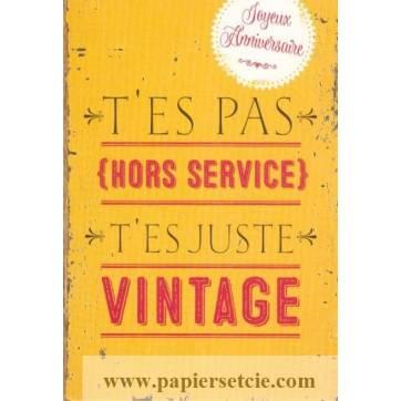 Carte Citation Humour Vintage T Es Pas Hors Service Joyeux