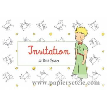 "Carte Citation Le Petit Prince ""Invitation"" Petit mouton"