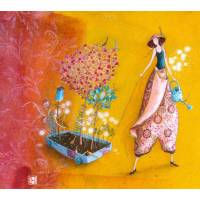 Carte double Gaelle Boissonnard  14 x 15,5 Le Chariot fleuri
