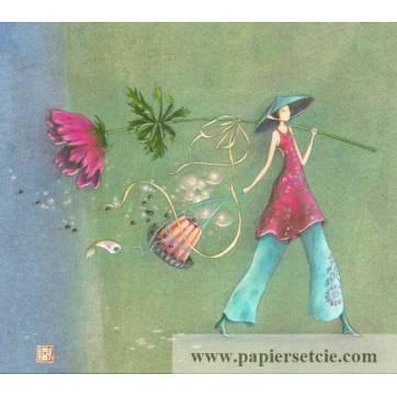 Carte double Gaelle Boissonnard  14 x 15,5 Le gateau d'Anniversaire