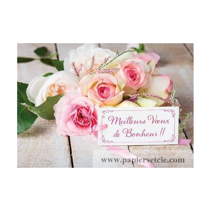 """Très Félicitations Mariage """"Meilleurs Voeux de Bonheur"""" HW94"""
