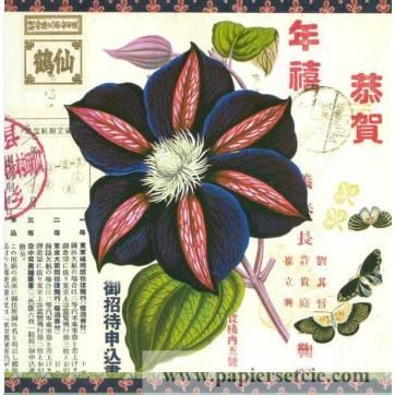 Carte d'art Gwenaëlle Trolez Clematite d'Inde