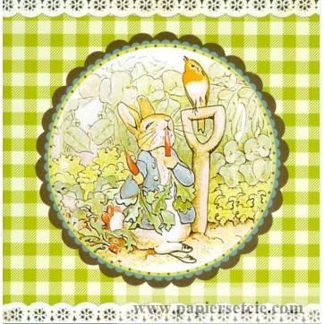 Carte d'art Gwenaëlle Trolez Peter Rabbit et le champ de carottes