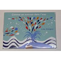 """Paquet de 6 cartes et enveloppes """"Comme un poisson dans l'eau"""""""