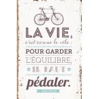 """Chemise A4 Vintage """"La vie c'est comme le vélo.."""""""