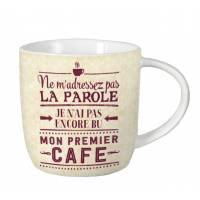 """Mug vintage """"Ne m'adressez pas la parole, je n'ai pas encore..."""""""