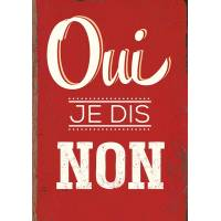 "Carte Citation Humour Vintage ""Oui, je dis Non"""