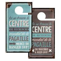 """Pancarte Panneau de Porte Humoristique """"Pagaille"""""""
