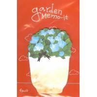 Post it Marque-Pages imprimé Pot et Fleurs bleues