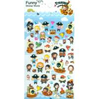 Stickers Pirates 3 D pour papeterie, scrapbooking