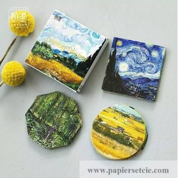 Stickers pour scrapbooking en boite Van Gogh