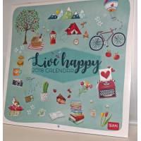 """Calendrier 2018 LEGAMI 30 x 30 """"Live Happy"""""""