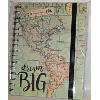 "Cahier LEGAMI A5 à spirales ""Dream Big"""
