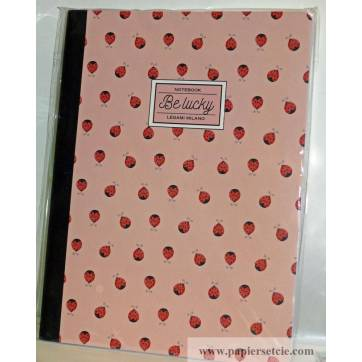 """Cahier LEGAMI B5 """"Be Lucky"""" Coccinelles 100 pages"""