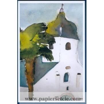Carte Marion Kerignard Belle Ile Clocher de Locmaria