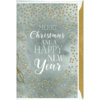 "Carte double"" Merry Christmas and Happy New Year"""