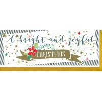 "Carte double ""A bright and Joyful Christmas"""