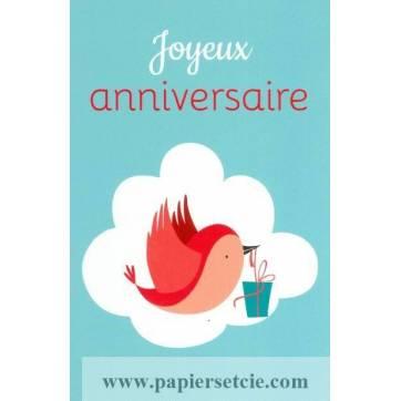 Carte Alice de Page Joyeux Anniversaire Oiseau et cadeaux
