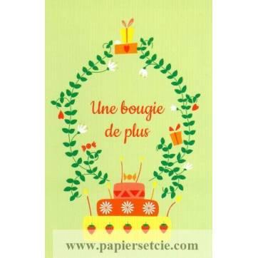 Carte Alice de Page Bon Anniversaire Une bougie de plus