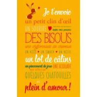 Carte Alice de Page Des Bisous: Plein d'amour!