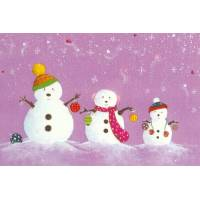 Carte simple Claire Vogel Bonhommes de neige