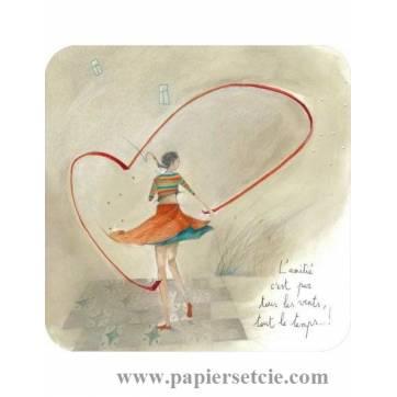 """Carte Anne-Sophie Rutsaert """"L'Amitié c'est par tous les vents..."""""""