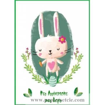 Carte Artisanale Bon Anniversaire Mon Lapin