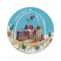 """Carte ronde Izou """"Meilleurs Voeux"""" Le village"""