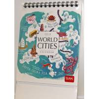 "Calendrier 2018 LEGAMI 12 x 14,5  ""World cities"""