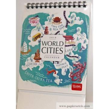 "Calendrier 2018 LEGAMI 12 x 14,5  ""World cities"""