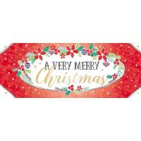 "Carte double ""A Very Merry Christmas"""