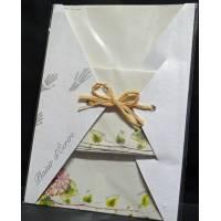 """Papier à lettre papier recyclé """"Maki Papier"""" Hortensias roses"""