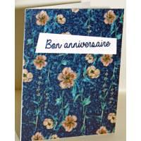 """Carte à planter Hannah Marchant """"Bon Anniversaire"""", fleurs crème, graines Fleurs des champs"""