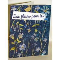 """Carte à planter Hannah Marchant """"Des fleurs pour toi"""", graines Fleurs des champs"""
