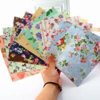 Papier Origami japonais Feuilles fleuries assorties