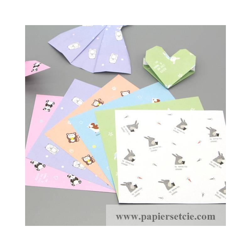 papier origami japonais feuilles motif animaux. Black Bedroom Furniture Sets. Home Design Ideas