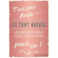 """Carte Citation Humour Vintage """"C'est pas facile de tout savoir""""..."""