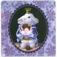 Carte d'art Gwenaëlle Trolez Lapin et Mûres