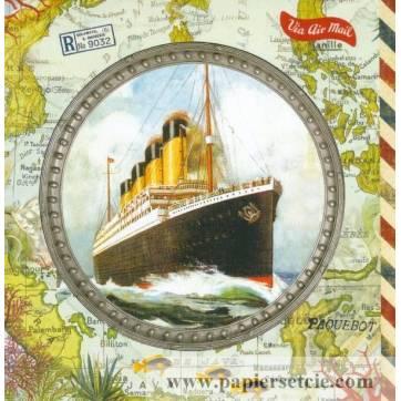 Carte d'art Gwenaëlle Trolez Paquebot