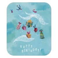 """Carte format """"Ecran"""" Izou Happy Birthday les oiseaux"""