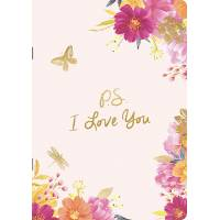 "Cahier A5 Louise Tiler fleuri ""PS I love you"""