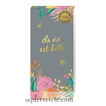 """To do List, liste de tâches à faire Louise Tiler """"La vie est belle"""""""