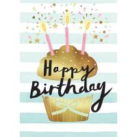 Carte double Louise Tiler Happy Birthday Cupcake
