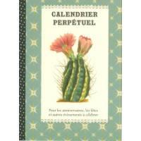 Calendrier d'anniversaires perpétuel Gwenaëlle Trolez Cactus
