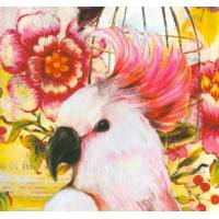 Carte d'art Gwenaëlle Trolez Sophie Addé Cacatoés