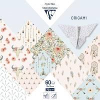 Papier Origami Clairefontaine Feuilles assorties Bohème