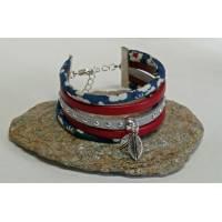 Bracelet Liberty Manchette Cordon Liberty Mitsi marine