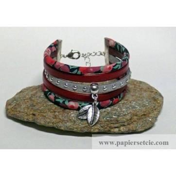 Bracelet Liberty Manchette Cordon Liberty Wiltshire rouge