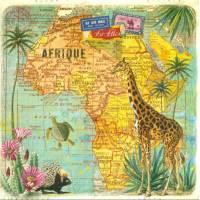 Carte d'art Gwenaëlle Trolez Afrique